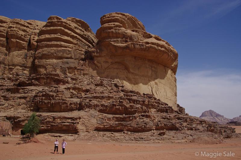 Wadi Rum - start of our camel trek