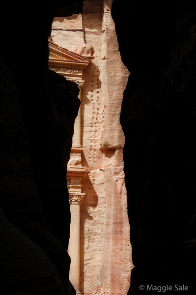 Petra - The Treasury from the Siq
