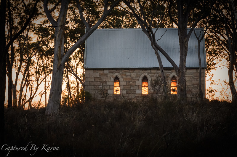 Sunset Through the Windows Ilford Catholic Church