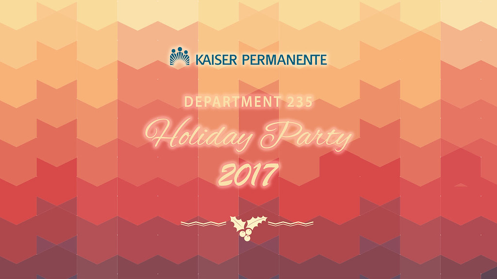 KP Dept 235 Holiday Party