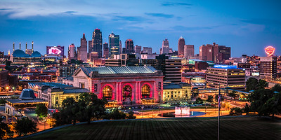 Kansas City Skyline at Sunset