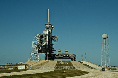 This pad remains exactly as it was when the Atlantis Shuttle launched on its final mission on July 8, 2011
