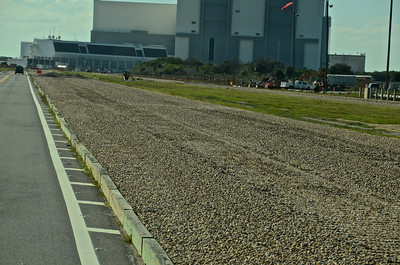 Tracks to take shuttle to launch pad, the journey along this track is 5 miles
