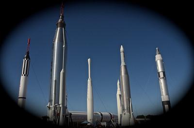 NASAs Rocket Garden - a display of missiles and sounding rockets
