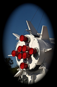 Back view of the Saturn rocket