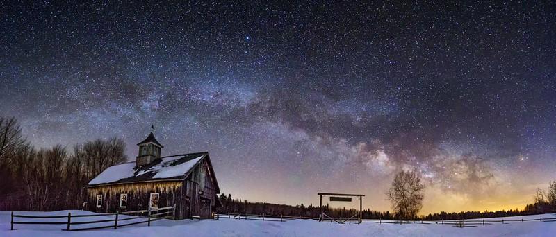 Milky Way Over Hardwood Ranch