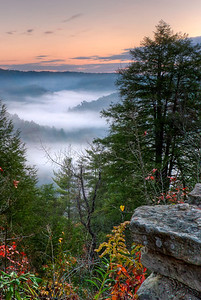 Morning Fog at Red River Gorge Eastern Kentucky