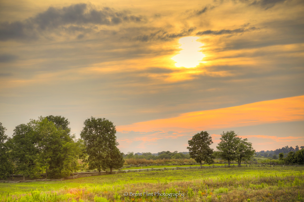 DF.4314 - sunset at Perryville Battlefield State Historic Site, KY.