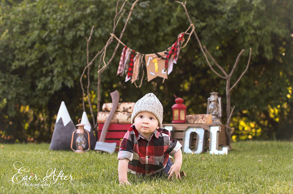 Lumberjack 1st Birthday Photoshoot Pictures