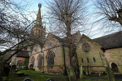 The Christmas season 2020 begins around The Green in Kings Norton on Saturday 12 December 2020. Saint Nicolas' Church.
