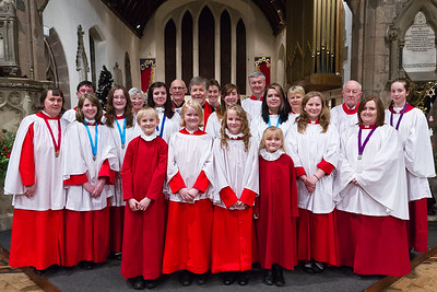 St Nicolas' Choir following the service of Nine Lessons and Carols on 23rd December 2012 (Advent 4).