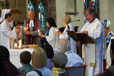 Confirmation service at St Nicolas' Church, Kings Norton.