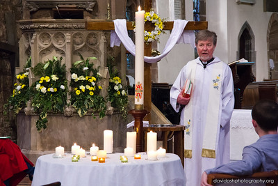 Easter Sunday evening, a Service of Baptism