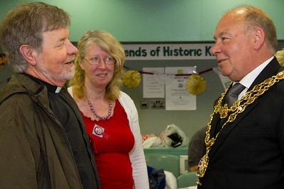 Celebrating the Queen's Diamond Jubilee in Kings Norton. Rev Rob Morris with the Lord Mayor of Birmingham.