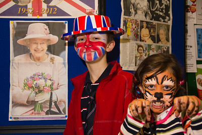 Celebrating the Queen's Diamond Jubilee in Kings Norton. Face painting.