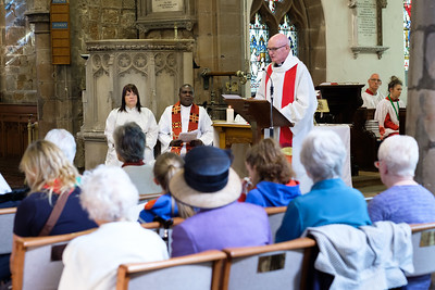 The Palm Sunday morning service at Saint Nicolas' Church, Kings Norton on Sunday 9 April 2017.
