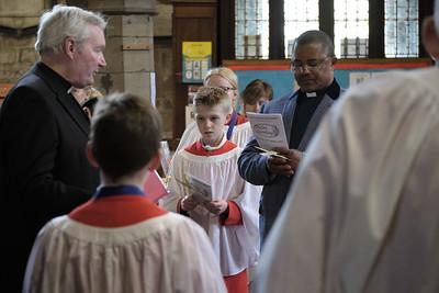 The Palm Sunday service followed by the Annual Parochial Church Meeting (APCM) at Saint Nicolas' Church, Kings Norton on Sunday 14 April 2019.
