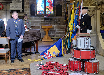 The Annual Remembrance Service at Saint Nicolas' Church, Kings Norton on Sunday 10 November 2019.