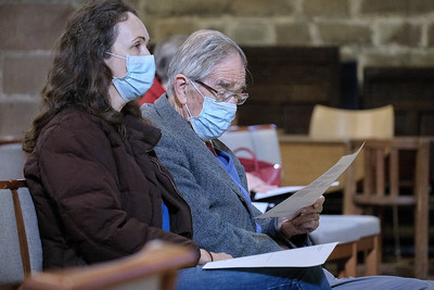 The Annual Parochial Church Meeting (APCM) held at Saint Nicolas' Church, Kings Norton on Sunday 11 October 2020.Gene & Anni Schellenberg.
