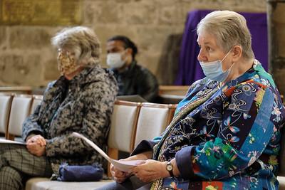 The Annual Parochial Church Meeting (APCM) held at Saint Nicolas' Church, Kings Norton on Sunday 11 October 2020.Angela Brady & Mary Watson.