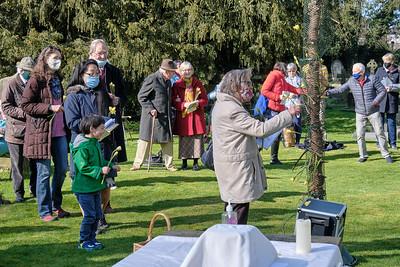 Easter Sunday 2021 at Saint Nicolas' Church, Kings Norton on Sunday 4 April 2021.