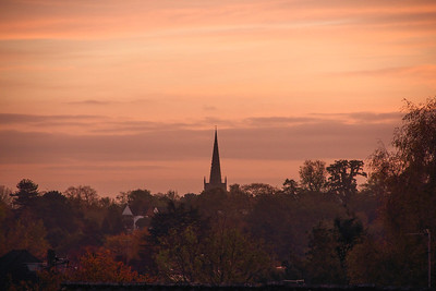 Sunset over St Nicolas' Church