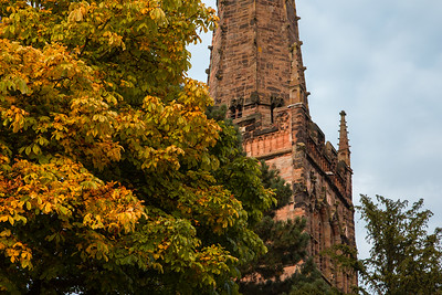 St Nicolas' Church in autumn