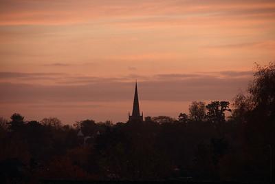 Sunset over St Nicolas' Church