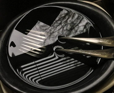 Forks & Reflections in Bowl, Portland, 2019