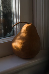 Pear on Windowsill, Portland, 2016