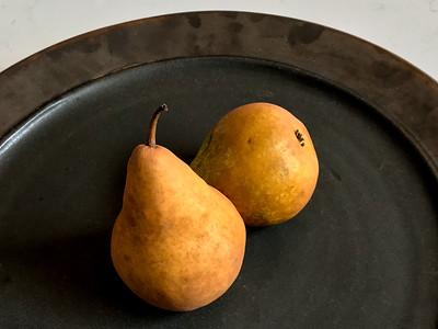 Two Pears on Platter, Portland, 2019