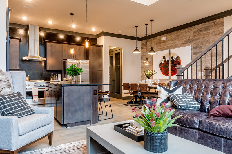 Photo of newly built town homes in the Buckhead area of Atlanta.