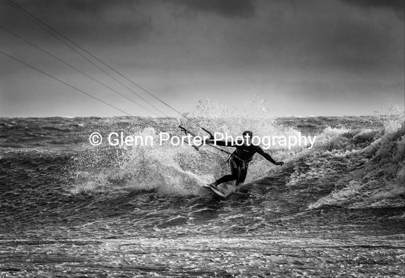 Kitesurfing Storm Brian.
