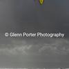Kitesurfing stormy seas