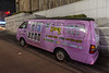 A van parked on a Gangnam district street advertises a plastic surgery service. (Gangnam-gu, Seoul, KR - 03/26/13, 12:12:50 AM)