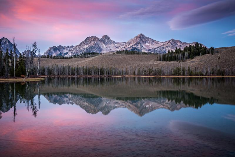 Sunrise at Little Redfish Lake   Stanley, Idaho