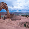 Delicate Arch Under Storm Clouds