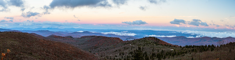 Balsam Mountain Sunset Panorama