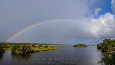 Full Rainbow- Tomoka River, Florida