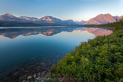Saint Mary Lake Reflections