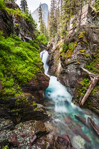Hidden Falls, Glacier National Park, Montana