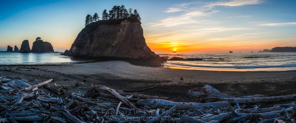 Rialto Beach Sunset Panorama