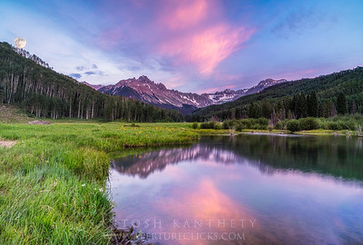 A composite image from a sunset this past summer, we camped at the same spot after hiking the Blue lakes.