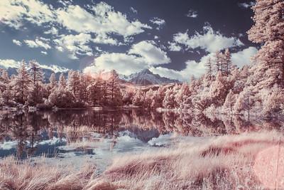 Dreamy Lake In Infrared