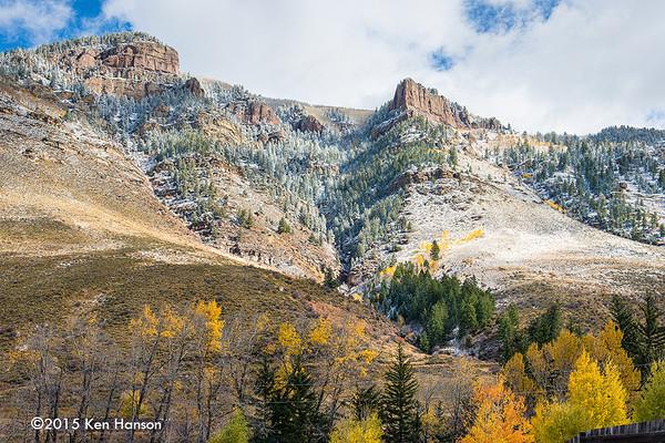 Cliffs above Mintern, Colorado