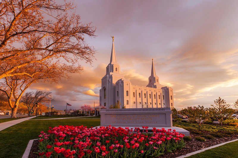 Spring Storm over the Brigham City Temple