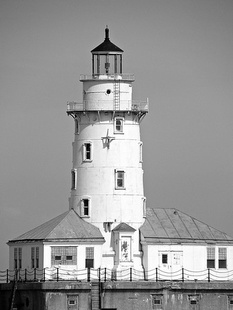 Chicago Lighthouse (b&w)