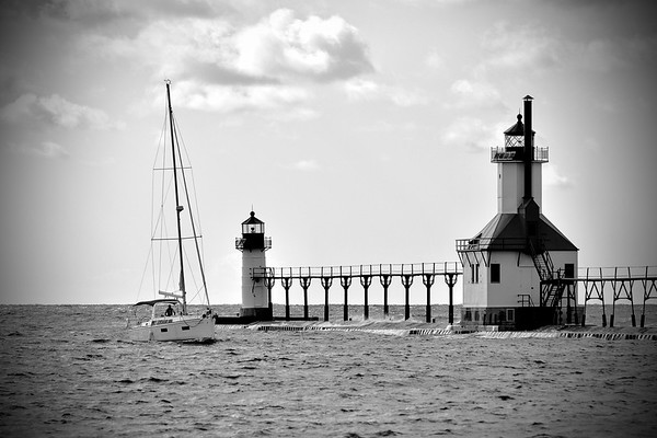 St.Joseph Lighthouse with sailboat