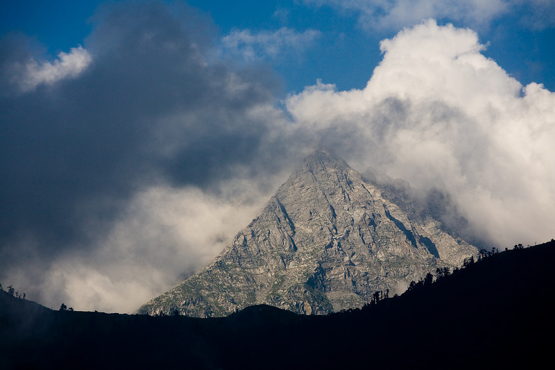 The Dhaula Dhar Range above Dharamsala, India