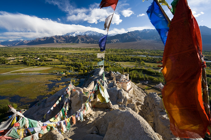 The Indus River Valley seen from the ruins above Shey Gompa, Ladakh